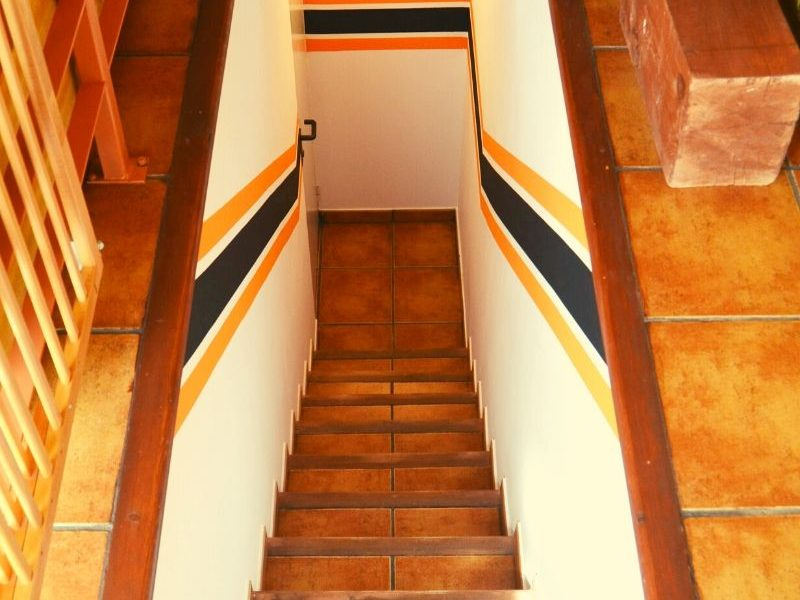 Escaleras de acceso al garaje